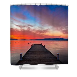 Sunset Walkway Shower Curtain