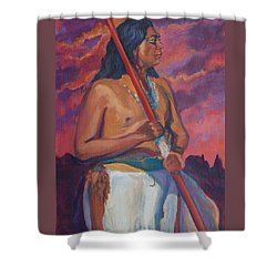 Sunset Warrior Shower Curtain