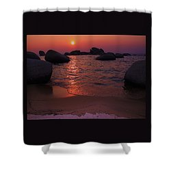 Shower Curtain featuring the photograph Sunset With A Whale by Sean Sarsfield