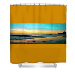 Sunset With Birds Shower Curtain by Ben and Raisa Gertsberg