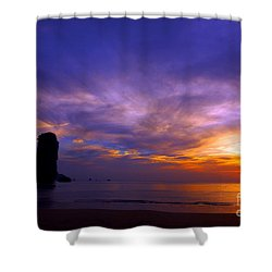 Sunsets And Beaches Shower Curtain by Kaleidoscopik Photography