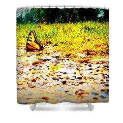 Sunshine Butterfly Shower Curtain