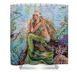 Sunshine Mermaid Square Shower Curtain