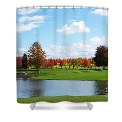Sunshine On A Country Estate Shower Curtain by Barbara McMahon