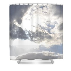 Shower Curtain featuring the photograph Sunshine Through The Clouds by Tara Potts