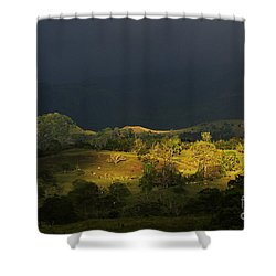 Sunspot After The Storm Shower Curtain by Heiko Koehrer-Wagner