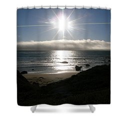 Sunstar Shower Curtain by Bev Conover
