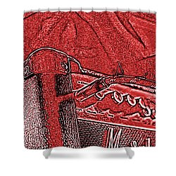Shower Curtain featuring the photograph Super Grainy Marshall by Bartz Johnson
