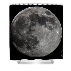 Super Moon 2014 Shower Curtain