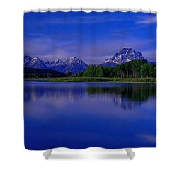 Super Moon Shower Curtain by Chad Dutson