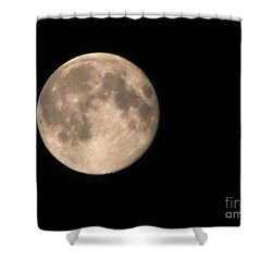 Shower Curtain featuring the photograph Super Moon by David Millenheft