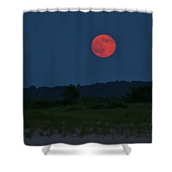 Super Moon July 2014 Shower Curtain by Karen Silvestri