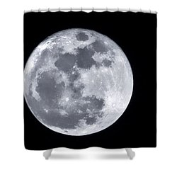 Super Moon Over Arizona  Shower Curtain by Saija  Lehtonen