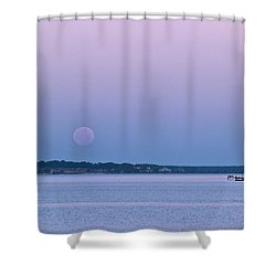 Super Moon Setting-1 Shower Curtain