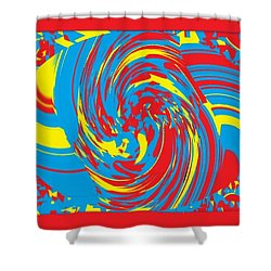 Super Swirl Shower Curtain by Catherine Lott