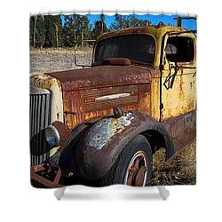 Super White Truck Shower Curtain