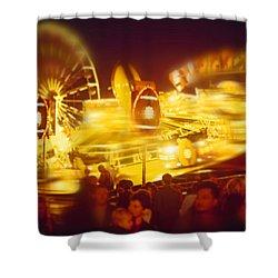Superbowl Shower Curtain by Charles Stuart
