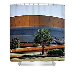 Superdome Shower Curtain by Steve Harrington