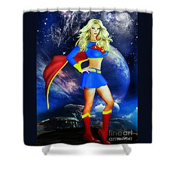 Supergirl Shower Curtain