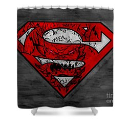 Superman And Doomsday R G Shower Curtain by Justin Moore