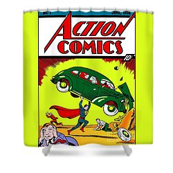 Superman Comic Book -1938 Shower Curtain by Doc Braham