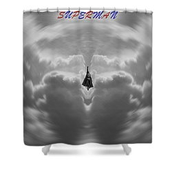 Superman Shower Curtain by Dan Sproul
