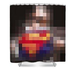 Superman Shower Curtain by Tony Rubino