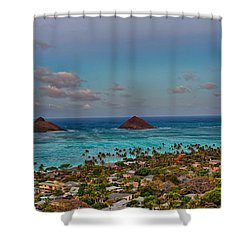 Supermoon Moonrise Shower Curtain