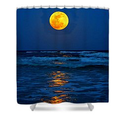 Supermoon Rising On Navarre Beach 20120505c Shower Curtain by Jeff at JSJ Photography