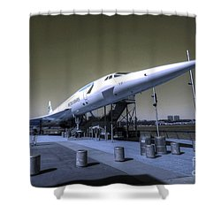 Supersonic  Shower Curtain by Rob Hawkins