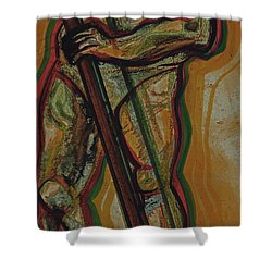 Support Shower Curtain by First Star Art