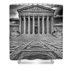 Shower Curtain featuring the photograph Supreme Court by Peter Lakomy