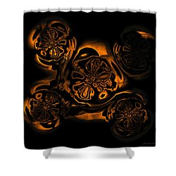 Shower Curtain featuring the digital art Suranan Artifact by Judi Suni Hall