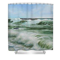 Surf At Castlerock Shower Curtain