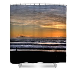 Surf Fishing Shower Curtain