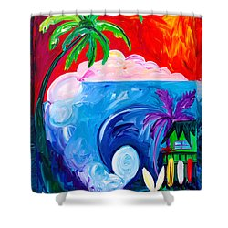 Surf Spot Shower Curtain by Beth Cooper