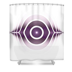 Surface Waves - Purple Shower Curtain by Anastasiya Malakhova
