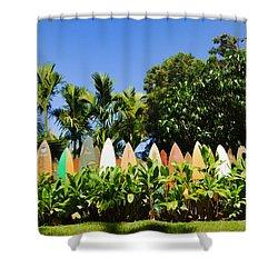 Surfboard Fence - Left Side Shower Curtain
