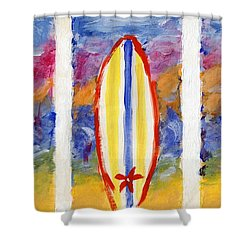 Surfboards 1 Shower Curtain