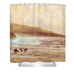 Surfer Dawn Shower Curtain