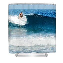 Surfer Dsc_1330 Shower Curtain by Michael Peychich