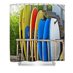 Surfer Dudes II Shower Curtain