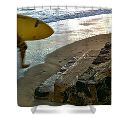Surfer In Motion Shower Curtain