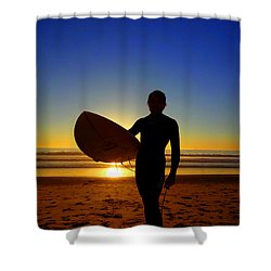 Surfer Silhouette Shower Curtain