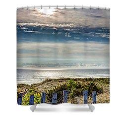 Surfers At Coast Guard Beach Shower Curtain