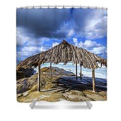 Iconic Surf Shack Shower Curtain