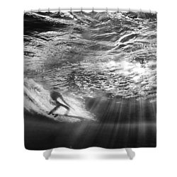 Surfing God Light Shower Curtain