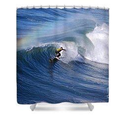 Surfing Under A Rainbow Shower Curtain