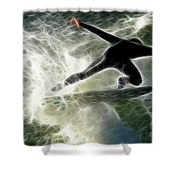 Surfing Usa Shower Curtain by Bob Christopher