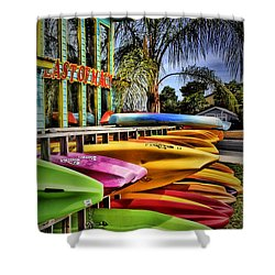 Surf's Up Shower Curtain by Robert McCubbin